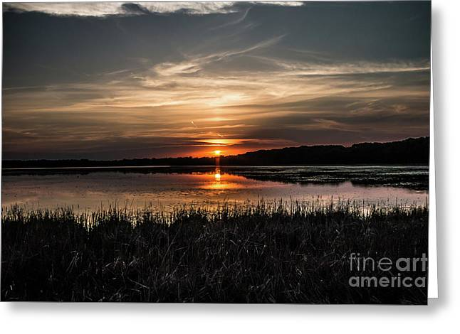 Lake Orrock Sunset Greeting Card