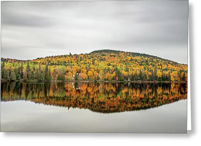 Greeting Card featuring the photograph Lake Shore House In Autumn by Pierre Leclerc Photography