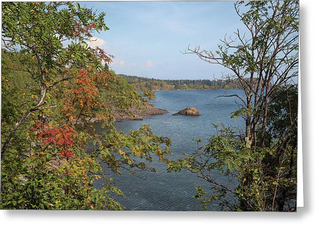 Lake Superior Autumn Greeting Card