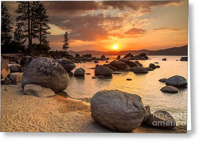Lake Tahoe At Sunset Greeting Card