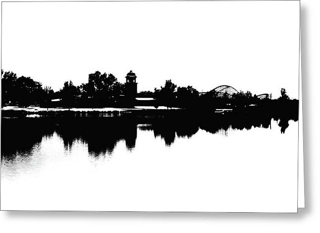 Lakeside Silhouette Greeting Card