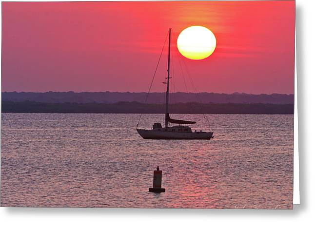 Lame Monroe Sunset-5140 Greeting Card