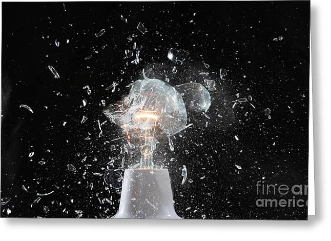 Lamp Crash Greeting Card