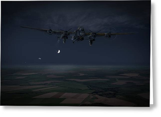 Greeting Card featuring the photograph Lancaster Baleout by Gary Eason