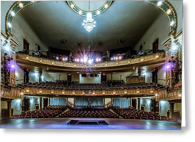 Landers Theatre Stage View Greeting Card