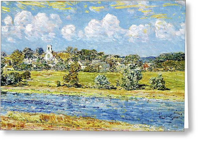 Landscape At Newfields, New Hampshire - Digital Remastered Edition Greeting Card