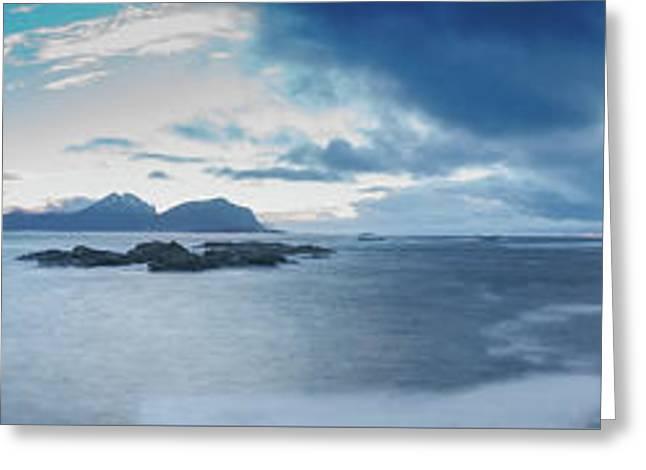 Landscape In The Lofoten Islands Greeting Card
