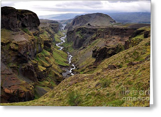 Landscape Of Canyon And River In Greeting Card by Vaclav P3k