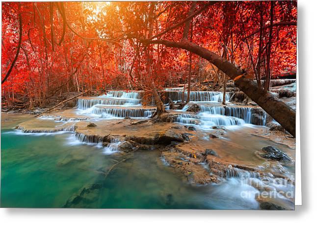 Landscape Photo, Huay Mae Kamin Greeting Card