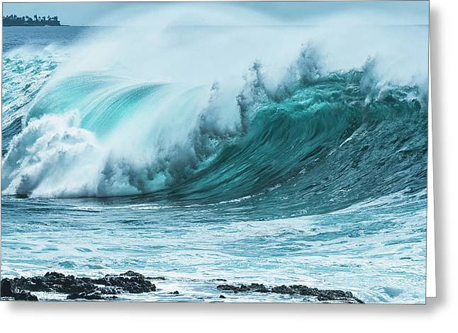 Large Wave On The Ocean Off The West Greeting Card