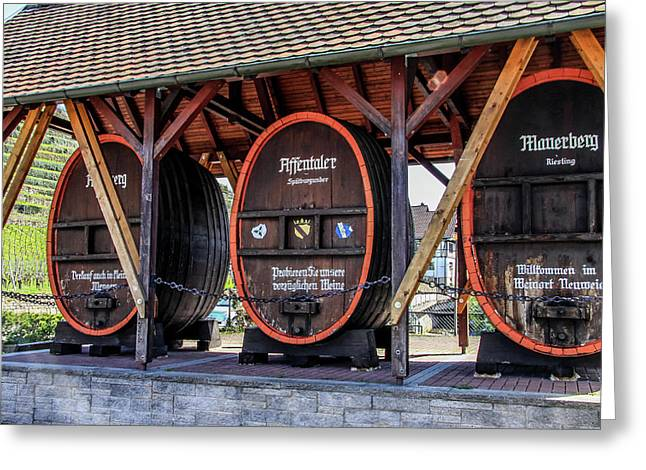 Large Wine Casks Greeting Card