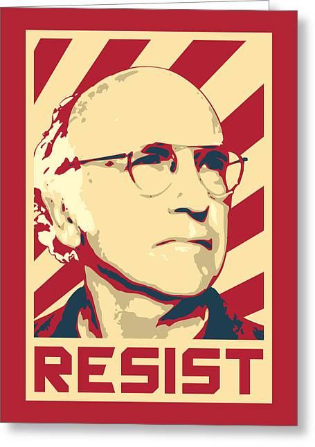 Larry David Resist Greeting Card
