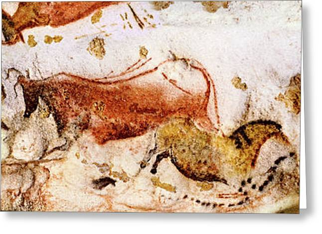 Lascaux Cows Horses And Deer Greeting Card