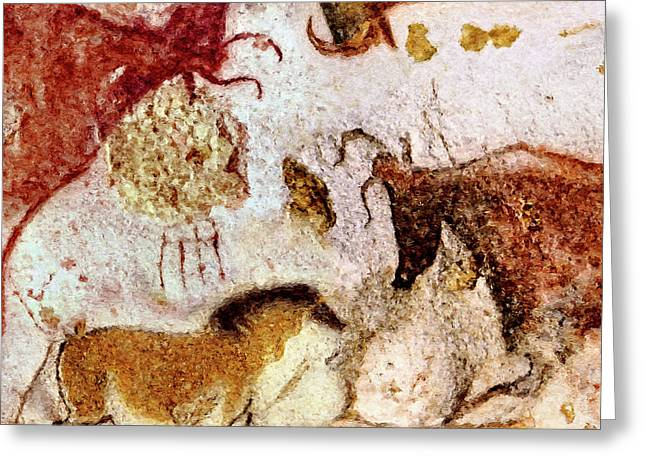 Lascaux Horse And Cows Greeting Card