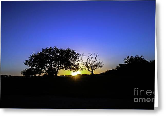 Last Light Texas Hill Country Paradise Canyon Sunset 8053a Greeting Card