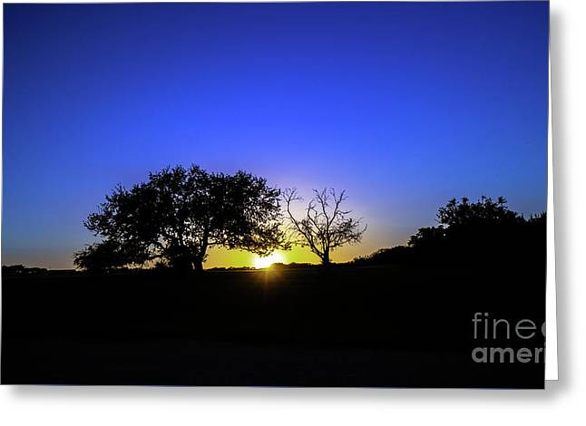Last Light Texas Hill Country Paradise Canyon Sunset 8053a1 Greeting Card