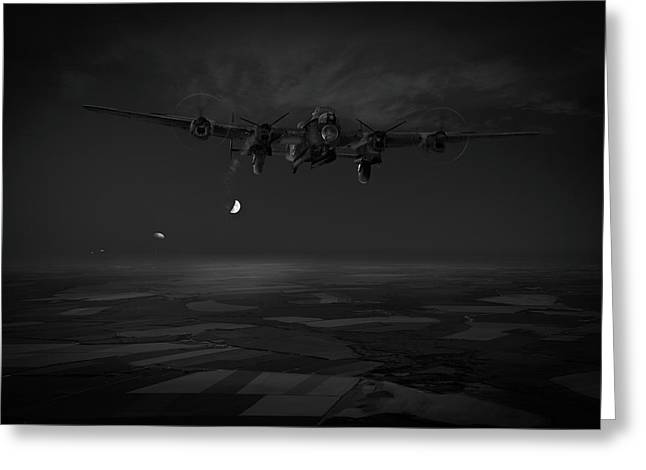 Greeting Card featuring the photograph Last Man Out Bw Version by Gary Eason