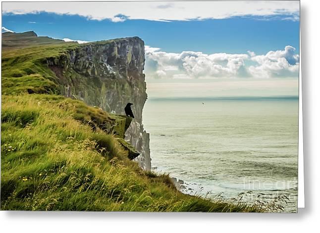 Latrabjarg Cliffs, Iceland Greeting Card
