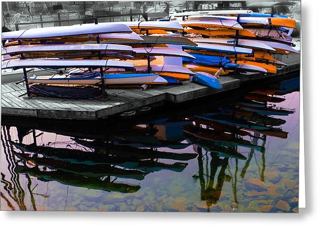 Layers And Layers By The Water Greeting Card