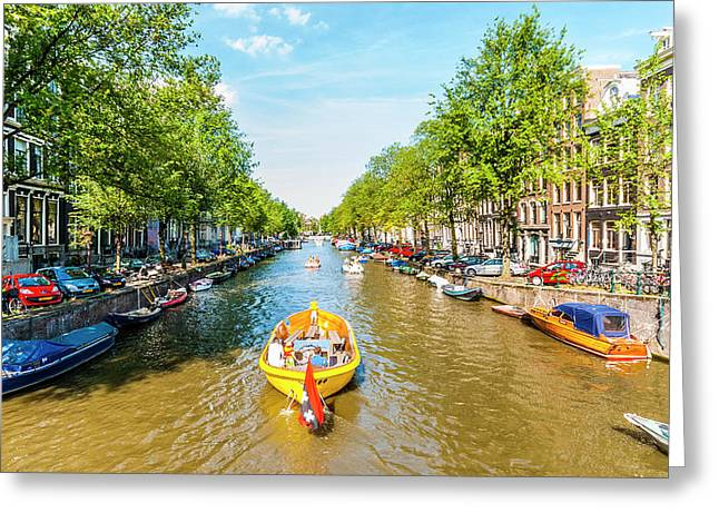 Lazy Sunday On The Canal Greeting Card