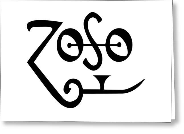 Led Zeppeling Z O S O - T-shirts Greeting Card