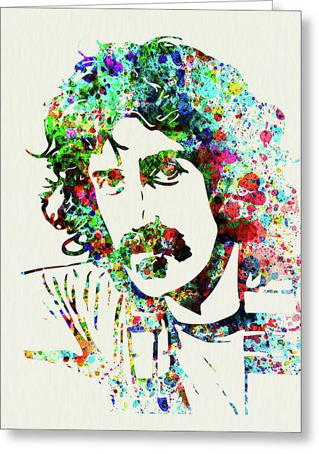 Legendary Frank Zappa Watercolor Greeting Card