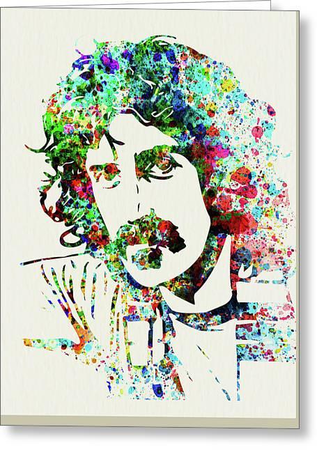 Legendary Frank Zappa Watercolor Greeting Card
