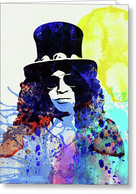 Legendary Slash Watercolor I Greeting Card