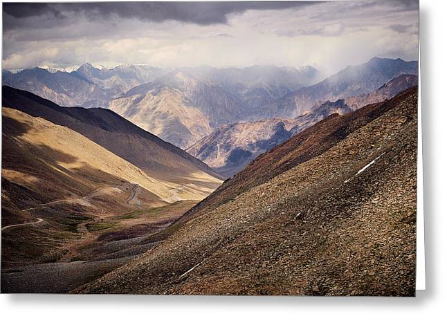 Leh-manali Mountains Greeting Card