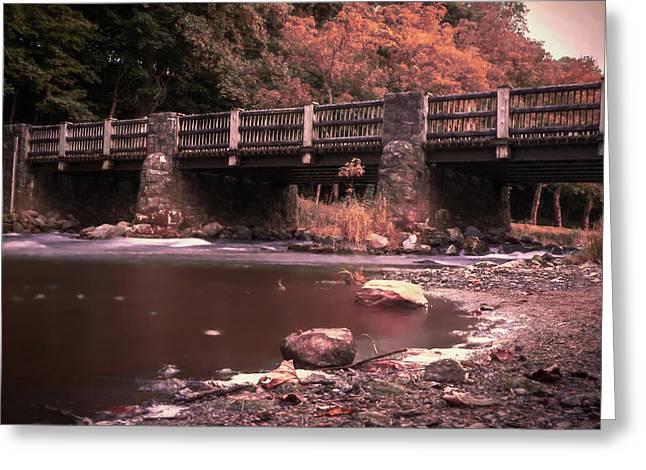 Lehigh Parkway Robin Hood Bridge - Impressionism Greeting Card