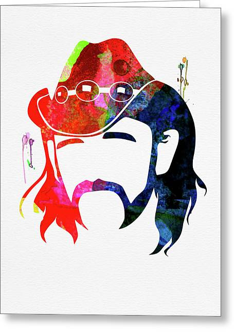 Lemmy Watercolor Greeting Card