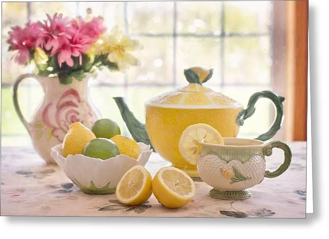 Lemon Tea  Greeting Card