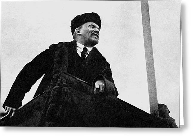 Lenin, During A Speech In Red Square On The 1st Anniversary Of The October Revolution Greeting Card