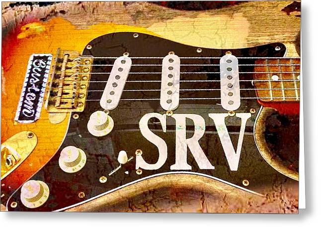 Lenny Stevie Ray Vaughans Guitar Greeting Card