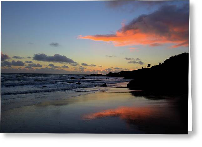 Leo Carrillo Sunset II Greeting Card