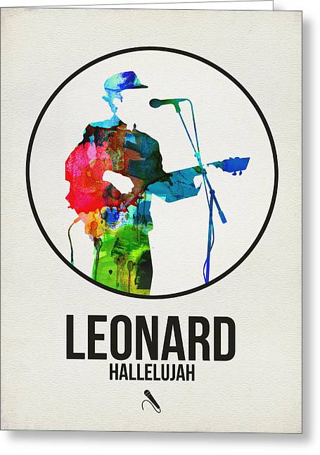 Leonard Cohen II Greeting Card