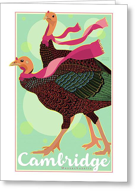 Les Foulards De Cambridge Greeting Card