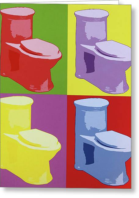 Les Toilettes  Greeting Card