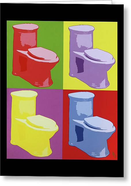 Les Toilettes  Greeting Card