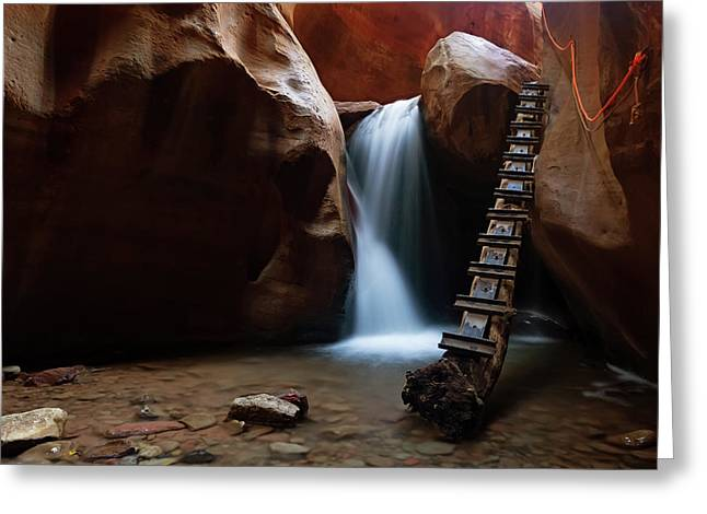 Greeting Card featuring the photograph Let It Flow by Tassanee Angiolillo