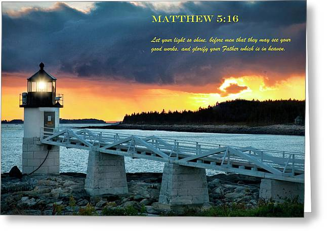 Let Your Light So Shine Greeting Card