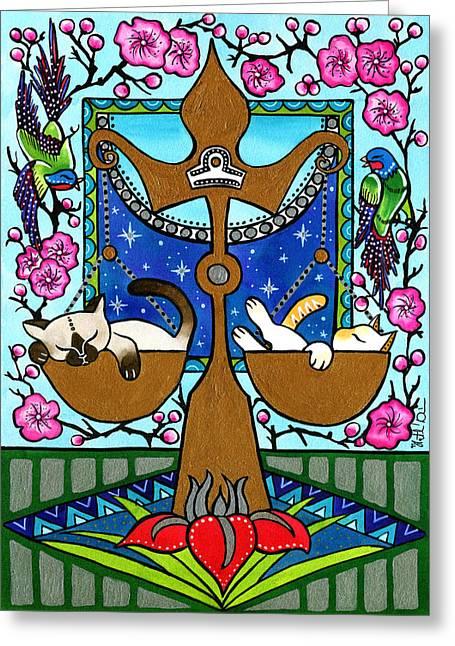 Libra Cat Zodiac Greeting Card