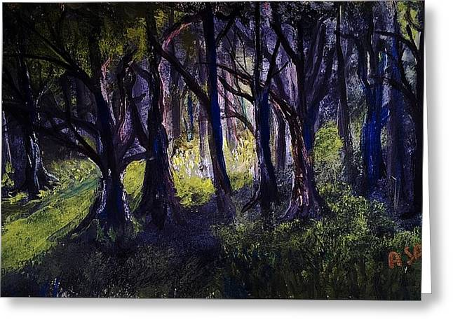 Light In The Forrest Greeting Card