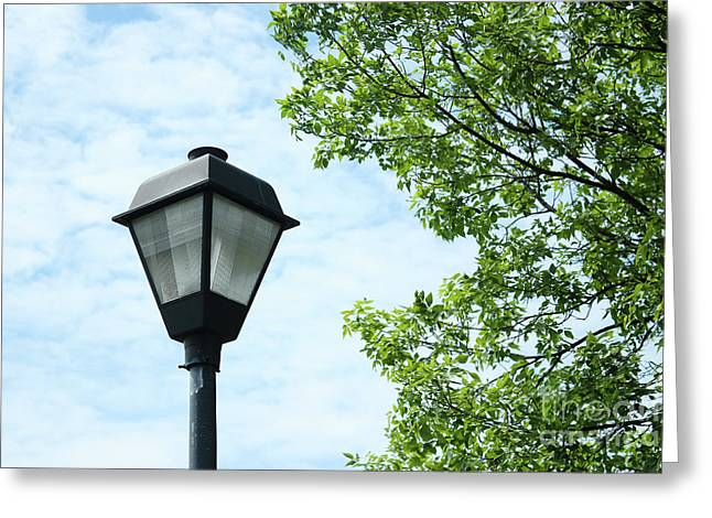 Light Pole In The Sky Greeting Card
