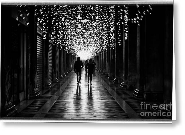 Light, Shadows And Symmetry Greeting Card