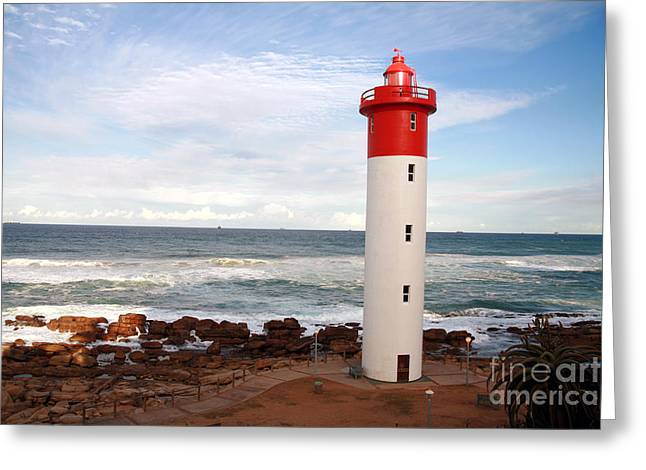 Lighthouse Umhlanga South Africa Greeting Card