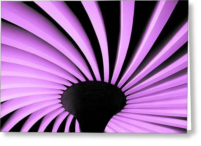 Lilac Fan Ceiling Greeting Card