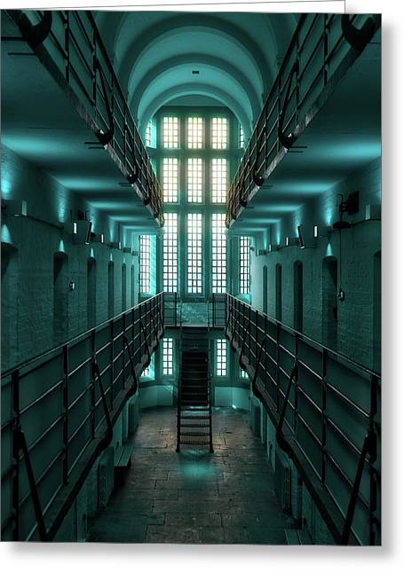 Lincoln Castle Prison In Blue Greeting Card