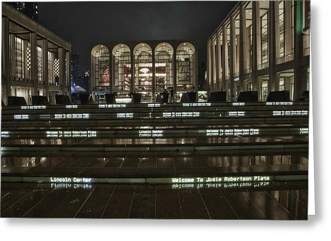 Lincoln Center For The Performing Arts Greeting Card