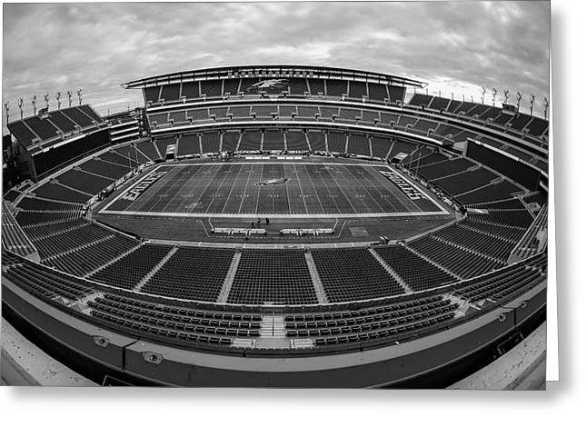 Lincoln Financial Field Black And White Greeting Card